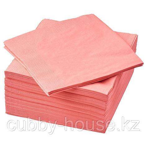 ФАНТАСТИСК Салфетка бумажная, светлый красно-розовый, 40x40 см, фото 2