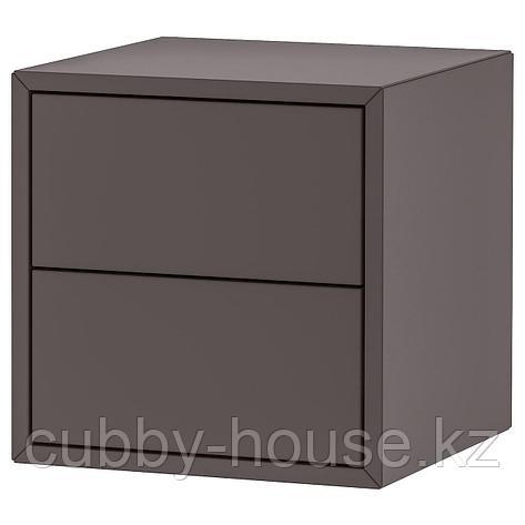 ЭКЕТ Шкаф с 2 ящиками, темно-серый, 35x35x35 см, фото 2