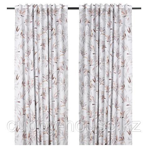 ПИАЛОТТА Затемняющие гардины, 1 пара, светло-бежевый, лист, 145x300 см, фото 2