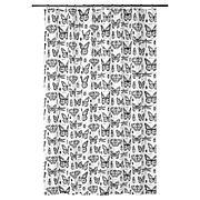 СОММАРМАЛЬВА Штора для ванной, белый, темно-серый, 180x200 см