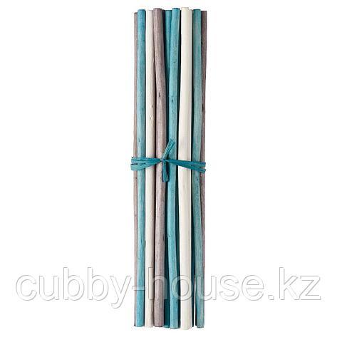 САЛТИГ Декоративная палочка, ароматический белый, бирюзовый, 35 см, фото 2