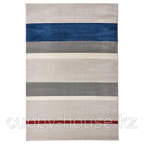ЛИЛЛЕВОРДЕ Ковер, короткий ворс, серый, разноцветный, 133x195 см, фото 2