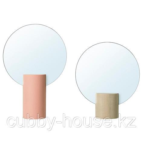 ЛИХОЛЕН Зеркало, 2 шт, розовый, осина, фото 2
