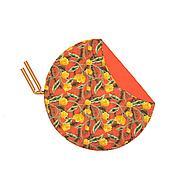 СОЛБЛЕКТ Покрывало для пикника, цветочный орнамент оранжевый, 170 см