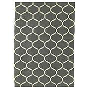 СТОКГОЛЬМ 2017 Ковер безворсовый, сетчатый орнамент ручная работа, сетчатый орнамент белый серый, 170x240 см