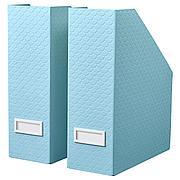 ПАЛЬРА Подставка для журналов, 2 шт, голубой, 10x25x30 см