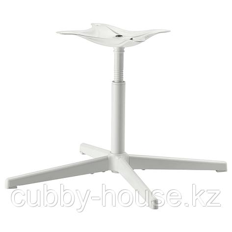 БАЛЬСБЕРГЕТ Каркас стула, вращающийся, белый, фото 2