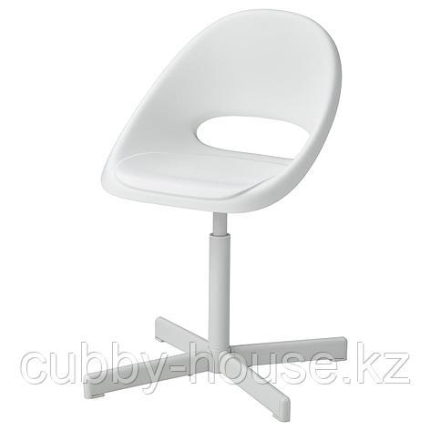 ЛОБЕРГЕТ / СИББЕН Детский стул д/письменного стола, белый, фото 2