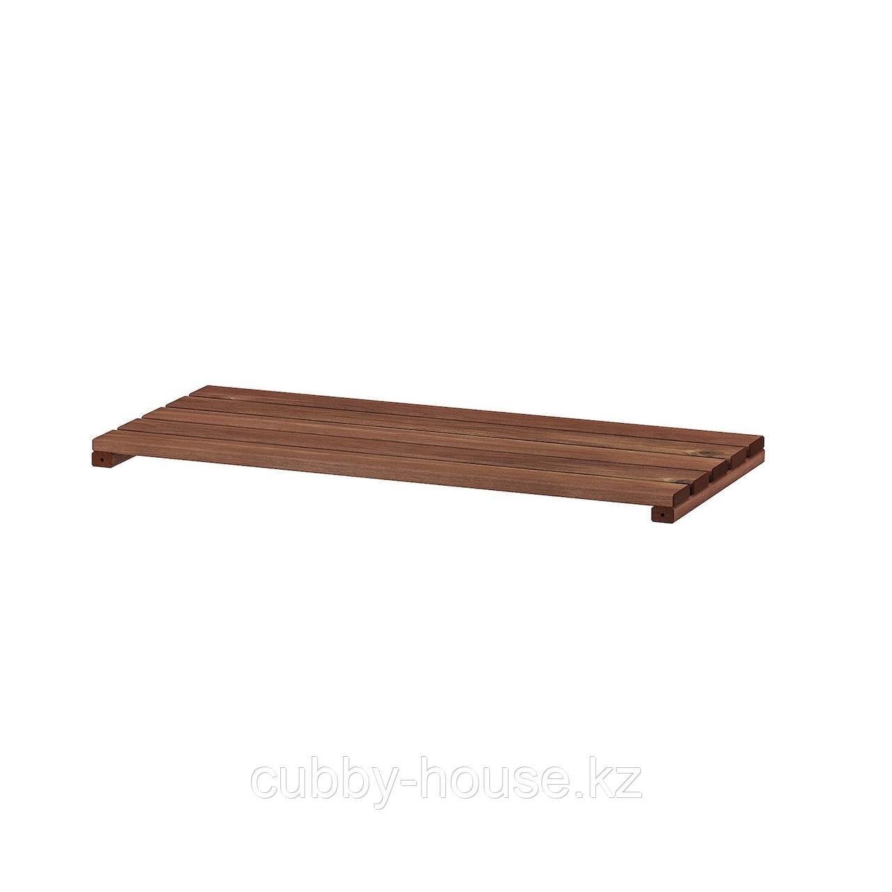 ТУРД Полка для садового стеллажа, коричневая морилка, 70x32 см