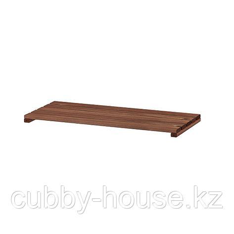 ТУРД Полка для садового стеллажа, коричневая морилка, 70x32 см, фото 2