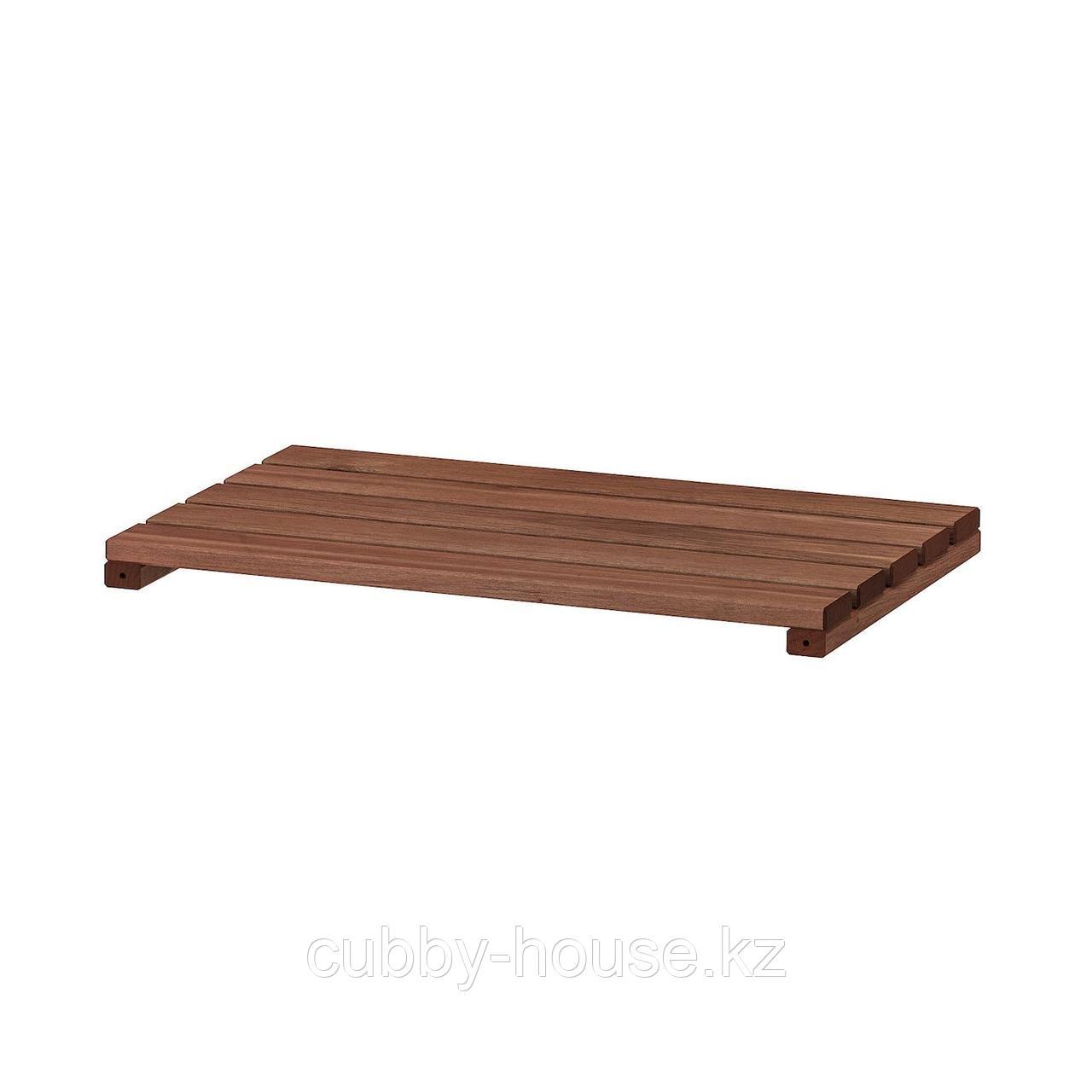 ТУРД Полка для садового стеллажа, коричневая морилка, 50x32 см