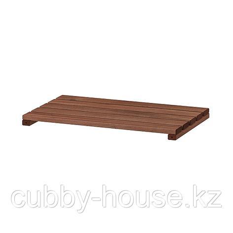 ТУРД Полка для садового стеллажа, коричневая морилка, 50x32 см, фото 2