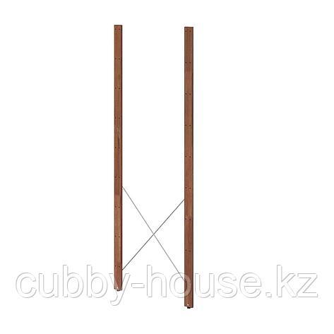 ТУРД Стойка для садового стеллажа, коричневая морилка, 161 см 2 шт, фото 2