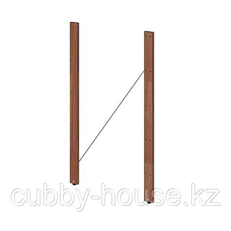 ТУРД Стойка для садового стеллажа, коричневая морилка, 90 см 2 шт, фото 2