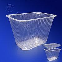 Kazakhstan Контейнер пластиковый 2000мл PP прозрачный 18,6х13,2х9,5см
