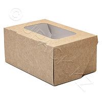 Россия Упаковка крафт/ламин 15,0х10,0х7,0см 1200мл с окном FoodToGo, фото 1
