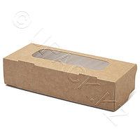 Россия Упаковка крафт/ламин 17,0х7,0х4,0см 500мл с окном FoodToGo, фото 1