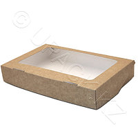 Россия Упаковка крафт/ламин 25,0х15,0х4,0см 1400мл с окном FoodToGo, фото 1