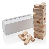 Настольная игра из дерева Башня, белый, Длина 21,2 см., ширина 7,2 см., высота 7,4 см., P940.083