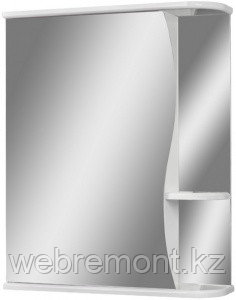 Шкаф-зеркало Волна 55 левый  АЙСБЕРГ
