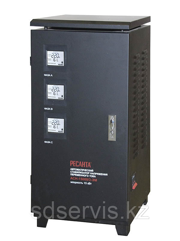 Стабилизатор 15 000/3 АСН ЭМ 15кВт 380 вольт