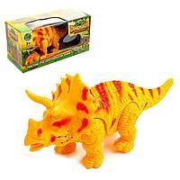 Динозавр  Трицератопс, световые и звуковые эффекты