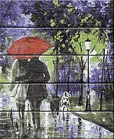 """ФРЕЯ PKW-1 84 Набор для раскрашивания по номерам (по дереву) 40 х 50 см """"Под красным зонтом"""""""
