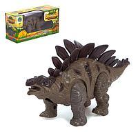 Динозавр Стегозавр, световые и звуковые эффекты