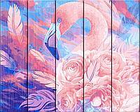 """ФРЕЯ PKW-1 40 Набор для раскрашивания по номерам (по дереву) 40 х 50 см """"Розовый фламинго"""""""