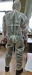 Противочумный комплект. Комбинезон защитный рабочий одноразовый ламинированный комплект с высокими бахилами, фото 3