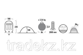 Палатка быстроразборная HIGH PEAK VISION 3, цвет серый, фото 2