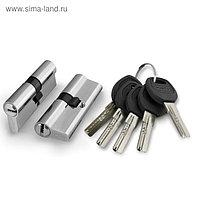Цилиндровый механизм Punto A200/100 SN, 45х10х45 мм, 5 ключей, цвет матовый хром