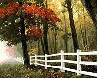 "ФРЕЯ PNB-1 №22 Набор для раскрашивания по номерам (на холсте) 40 х 50 см ""Осенний лес"""