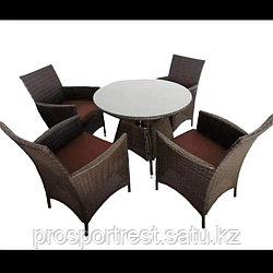 """Круглый стол с 4-мя стульями """"Мельбурн"""""""