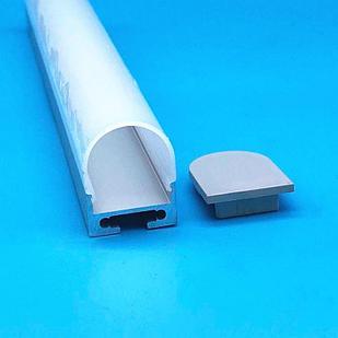 Алюминиевый профиль для светодиодных лент JH-97-2010 Полукруглый