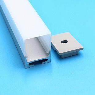 Алюминиевый профиль для светодиодных лент JH-97-2010 Квадратный
