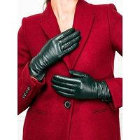 Перчатки женские, размер 8.5, цвет тёмно-зеленый