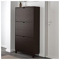 СТЭЛЛ Галошница,3 отделения, черно-коричневый, 79x148 см, фото 1
