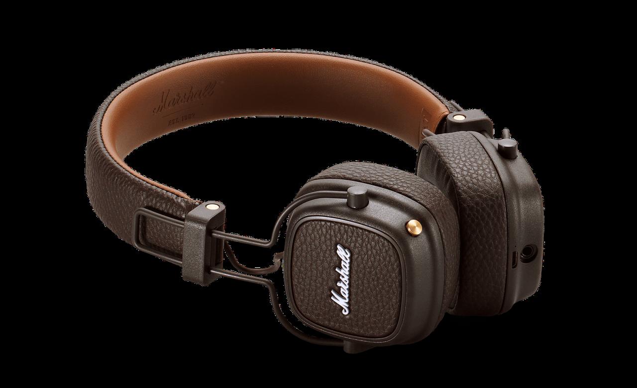 Наушники накладные Marshall Major III Bluetooth коричневый - sale16