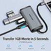Type C мультифункциональный хаб-конвертор. 1*HDMI, 3*USB 3.0, +PD(87W), фото 8