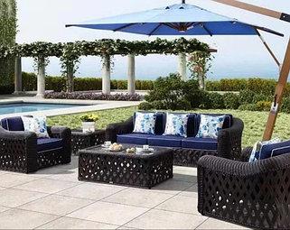 Ротанговая мебель для сада и кафе