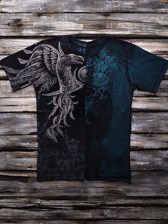 «Чёрный легион» мужская четырёхсторонняя тотальная футболка