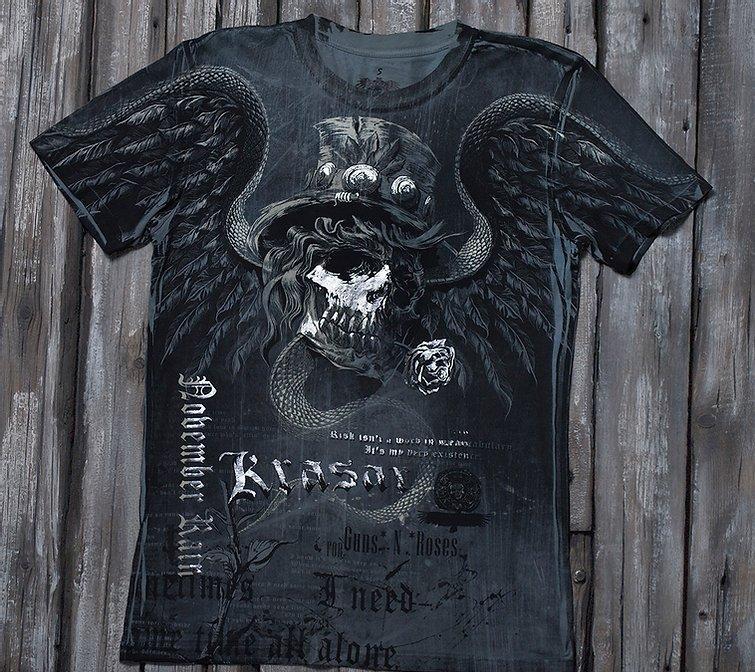 «Ноябрьский дождь» тотальная футболка мужская