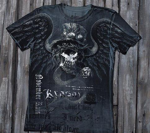 «Ноябрьский дождь» тотальная футболка мужская, фото 2