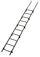Лестница кровельная 3м в комплекте с крепежом