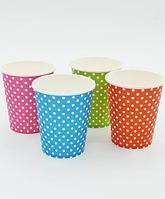 """Цветные бумажные стаканы """"Горох"""", 10 шт."""