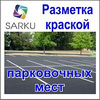 Нанесение дорожной разметки (Разметка парковки краской)