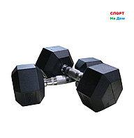 Гантели гексагональные 27,5+27,5 кг