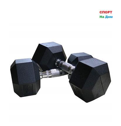 Гантели гексагональные 27,5+27,5 кг, фото 2