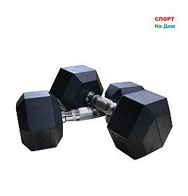 Гантели гексагональные 37,5+37,5 кг